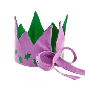Reversible Oak Leaves Fabric Crown