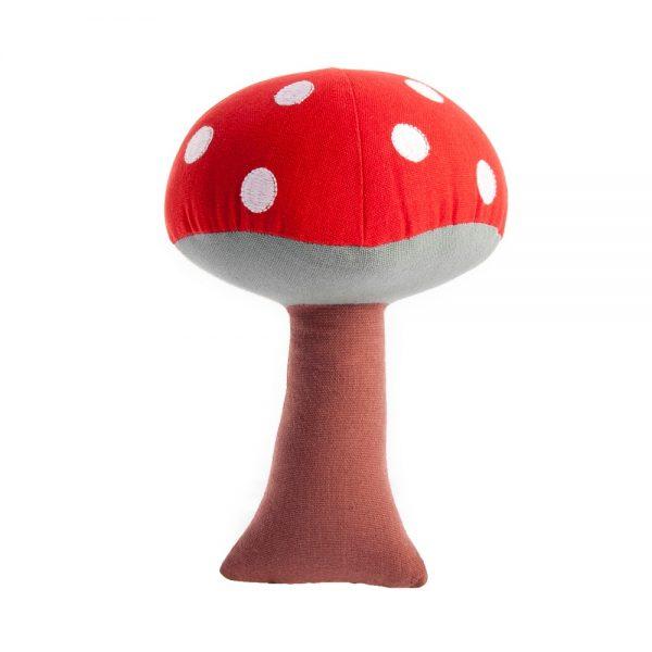 red mushroom rattle