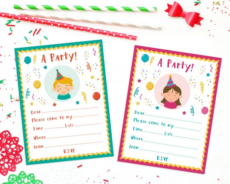 Printable party invites 1