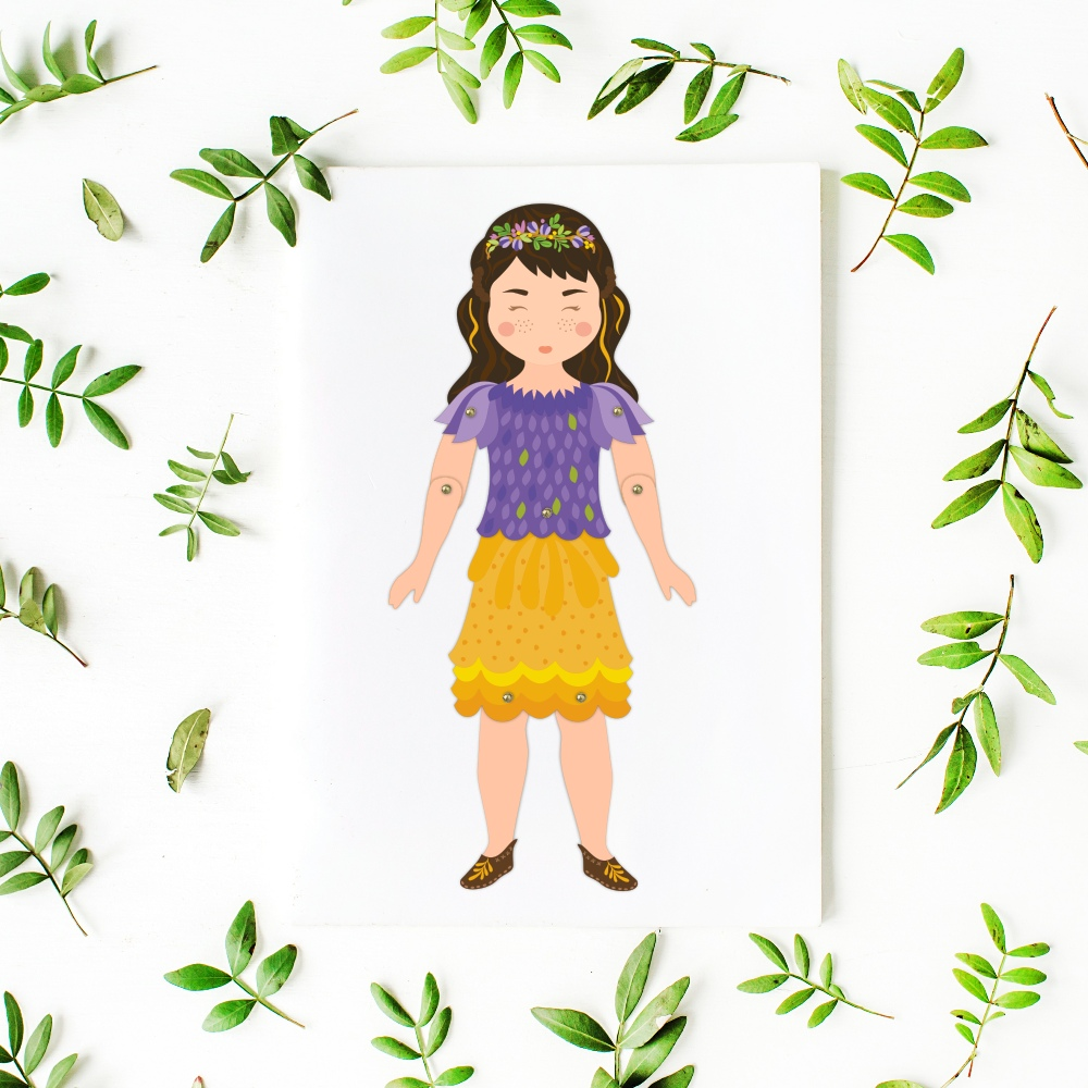 articulated paper toy doll