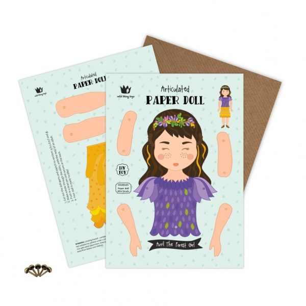 articulated paper doll puppet