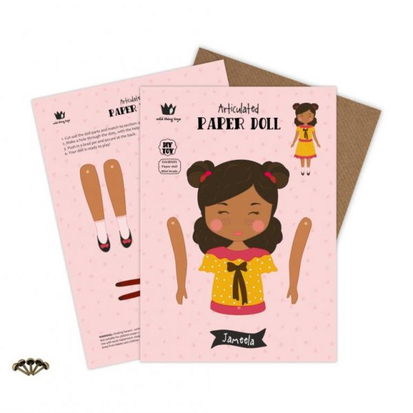 articulated paper doll toy puppet