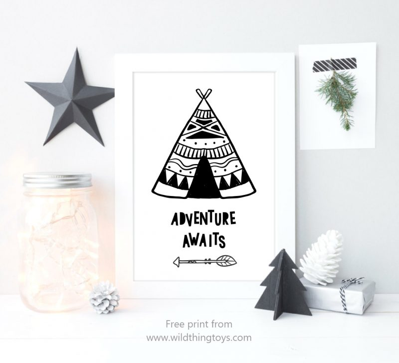 teepee-art-print-display