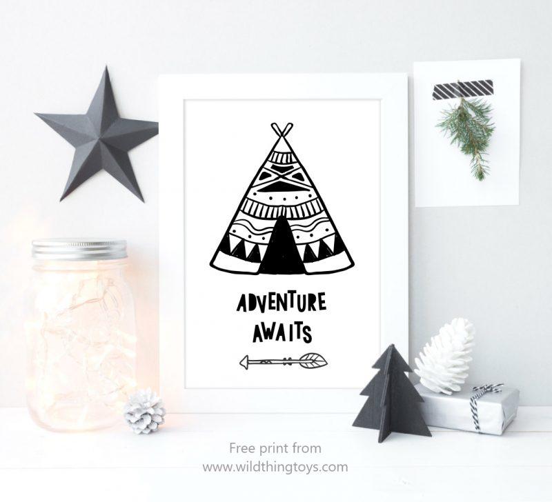 teepee-art-print-display