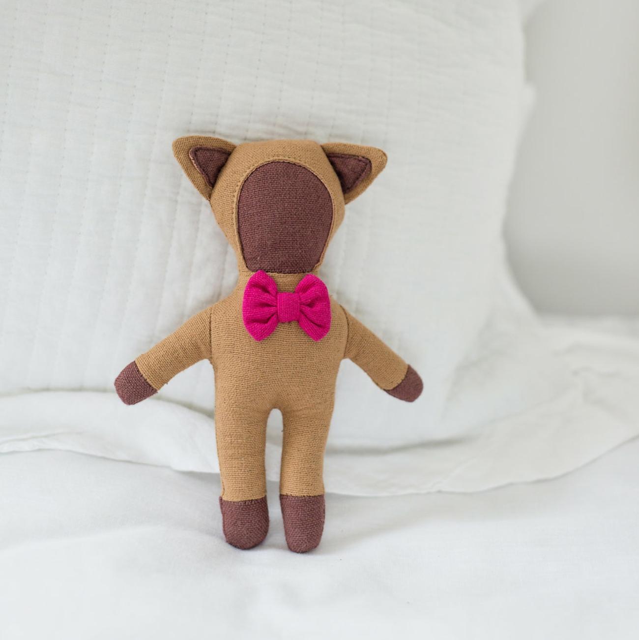 fair trade rattle doll