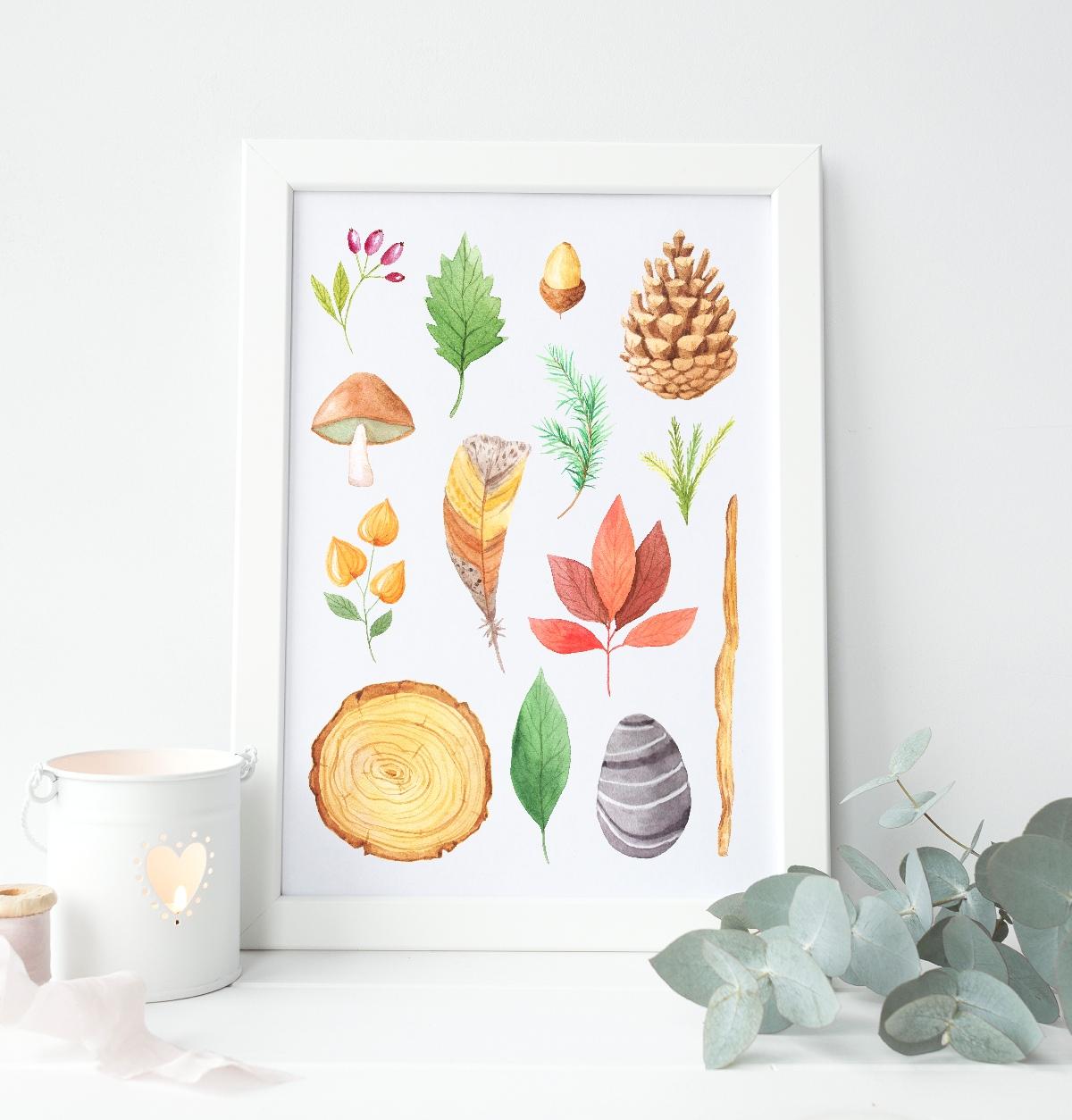 nature table art print